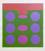 Michael Stokoe Movements on a Green Field 1969 Limited Edition Serigraph