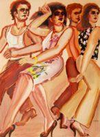Lester Johnson City Venues 1980 l Signed Art Limited Edition Lithograph
