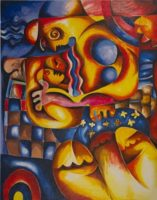 Alexandra Nechita Mama's Lullaby Signed Lithograph on Arches Archival Paper
