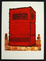 Moshe Castel  Stone Of The Temple Signed Lithograph on Somerset paper
