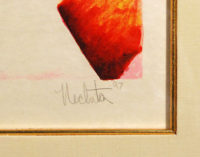 Alexandra Nechita ALEXANDRA'S GARDEN  Framed Signed Art