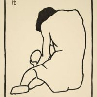 Horace-Brodzky-NUDE-Signed-Woodcut-Etching-Art-1912-190683107733