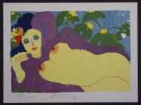 "Walasse Ting ""Grape Flavor"" – 1981 Print Lithograph on Somerset paper"