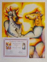 Alexandra Nechita Confronting Yor Fantasies Signed Lithograph Art Print