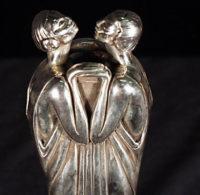 """Erte Bronze """" Flora II – Vase""""  1984 Art Deco"""