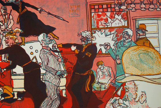 Time-Traveling with Warrington Colescott